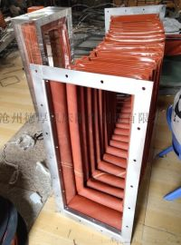 风机通风软连接 耐高温硅胶伸缩软连接