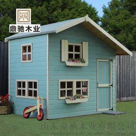 大型戶外玩具兒童木屋遊戲房樹屋木質幼兒園遊樂設施
