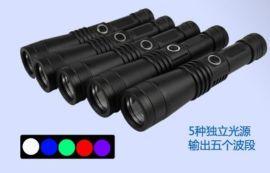 HX-UL05型LED匀光五波段勘查手电