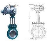 电动浆液阀Z973H  DN225 浆液闸阀 泥浆阀  电动矿浆阀