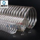 鑫翔宇pu透明螺旋钢丝软管, 耐磨工业吸尘软管耐真空耐老化63/65mm