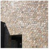 天然鏽色石英岩文化石 別墅黃色文化石外牆 邢臺文化石石英塊石