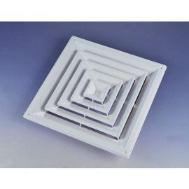 廠家直銷鋁合金風口圓形通風空調風口百葉型材風口定制