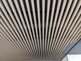 仿木紋工程鋁方通 淺木紋吊頂鋁垂片方通天花造型立體