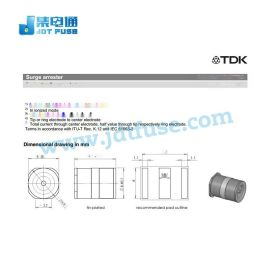 EPCOS爱普科斯放电管T30-A90XSMD插件B88069X8561T702