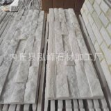 【厂家直销】天然白色石材-欧式别墅用白砂岩蘑菇石白色外墙砖