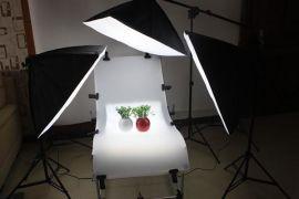 活动产品拍摄**60130拍摄台 四联灯柔光箱4灯超级套装