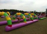 新型彩色障碍游戏钻网通道 趣味障碍赛道具 鱼跃龙门 平衡木 跨栏