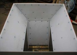 天龙供应各种规格超高分子量聚乙烯阻燃料仓衬板煤仓衬板