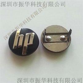 振华专业制作锌合金喷漆电镀hp标牌
