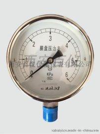 抗震不锈钢压力表, Y-100BFZ, 不锈钢耐震压力表