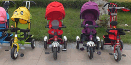 儿童脚踏三轮车