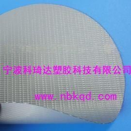500D灰色抗撕拉PVC帐篷夹网布、篷布(刀刮夹网布)