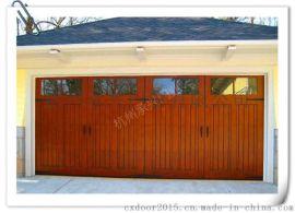 供应定做原木别墅庭院门进户门**定制进口实木车库门钢木门
