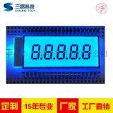 5位8字TN段码液晶屏7段式LCD数码管可开模定制