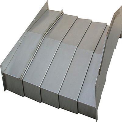 厂家订制数控机床导轨钣金防护罩 伸缩式钢板防尘罩