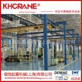 高博kbk軌道導軌懸掛式輕載起重機組合自立式起重機鋼性kbk配件滑