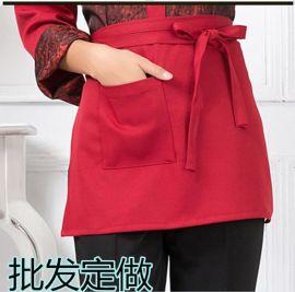 酒店餐饮工服 西餐咖啡厅工作服韩版火锅饭店服务员百搭短式围裙