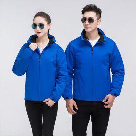 加絨衝鋒衣男女工作服定制秋冬厚款棉服外套訂做工衣裝