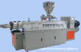 供应SJSZ-92锥双螺杆挤出PVC造粒机/透明pvc软料造粒生产线