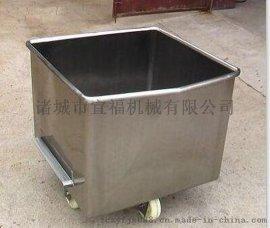 定制食品厂用料斗车 不锈钢肉料车加厚200L