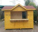 供应海南实木售货车,小区售卖车,饮料木质售卖亭 木屋