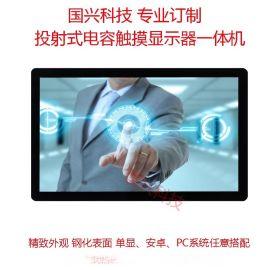 厂家直销 21.5寸 金色款 纯平面10点电容触摸显示器 电容触摸屏