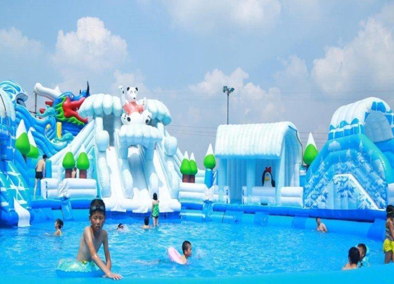 山西充氣室外支架游泳池真的是超級好玩