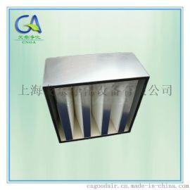 新疆乌鲁木齐H14V型大风量组合式HEPA高效过滤器 镀锌框密折式高效滤网