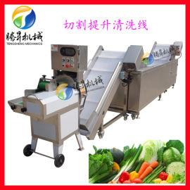 蔬菜清洗机 净菜切割清洗加工生产线