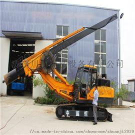 动力足速度快恒旺履带旋挖钻机