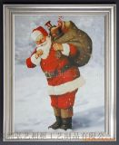 相框廠家定製 耶誕節日禮品相框、聖誕老人油畫框、裝飾帆布畫框