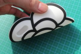 厂家直销软胶PVC手机贴片,创意山茶花手机贴皮