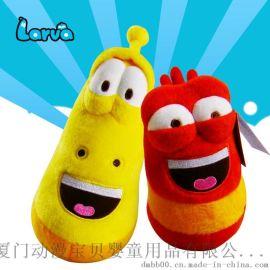 larva毛絨玩具公仔正版爆笑蟲子黃15寸兒童玩具創意公仔廠家批發