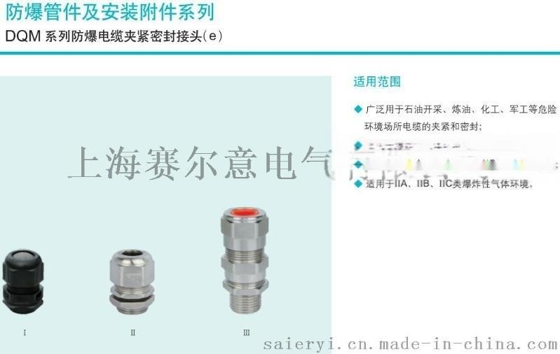 上海防爆DQM-I M20*1.5防爆電纜夾緊密封接頭 填料函