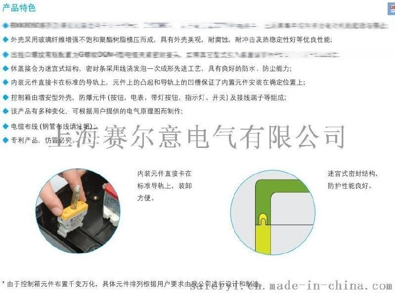 定制防爆控制箱 BXK8050 防爆仪表箱  ATEX 欧盟防爆认证