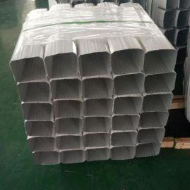 北京供应 144*108型彩钢落水管/彩钢雨水管项目实例 0.3mm--0.6mm厚 厂房排水管 宝钢白灰落水管