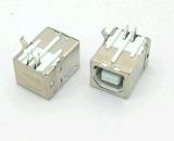 廠家供應USB B母 90°直插B型母座印表機介面母座
