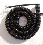 【汽车后备箱专用弹簧线】高耐寒-60--150电线电缆螺旋电缆,制冷机械设备专用线