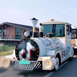 常州奥联电动42座景区户外观光小火车