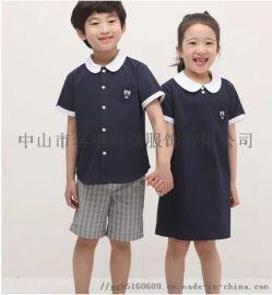 廣東中山定制校服廠家生產定制英倫風校服,幼兒園服