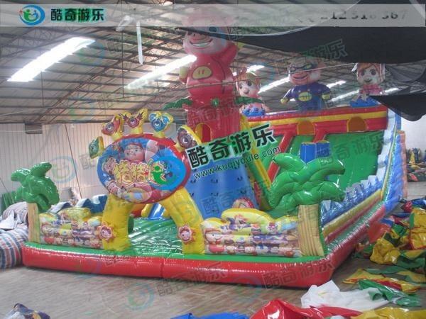 120平方豬豬俠兒童充氣大滑梯價格