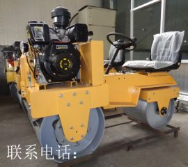 建筑小型振动压路机 小型压土机价格 震动双轮压实机