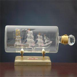 供应内套帆船玻璃手工艺酒瓶 异形酒瓶