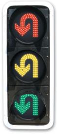 红黄绿三色掉头灯 机动车组合灯 交通信号灯
