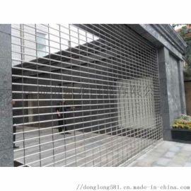 【东龙门业】电动不锈钢网闸 别墅车库门 水晶卷帘门