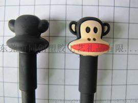 创意立体卡通pvc笔套,卡通硅胶笔夹笔套