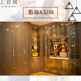 高端实木酒柜灰色亮光红酒展示架简约现代家具厂家直销