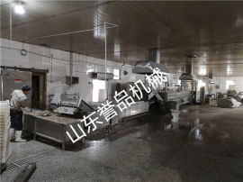 鱼豆腐蒸线成套鱼豆腐加工设备定制油炸切块蒸制设备