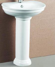 爆款出口陶瓷立柱盆 陶瓷洗手盆 V309